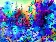 Watercolor Colorful Bright Tex...