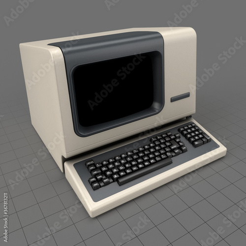 Obraz Retro computer terminal - fototapety do salonu
