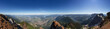 canvas print picture - Panoramic View of Fraser Valley from top of Mountain, Cheam Peak, during a sunny summer morning. Taken near Chilliwack, East of Vancouver, British Columbia, Canada. Nature Background Panorama