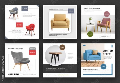 Obraz Product Advert Social Media Post Layouts - fototapety do salonu