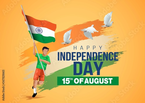 Fotografia happy independence day India