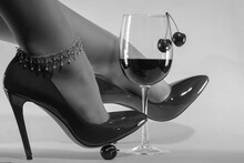 Female Feet With Chain Decorat...