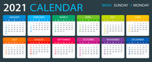 2021 Calendar - Vector Illustr...