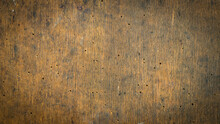 Old Brown Board With Traces Of...
