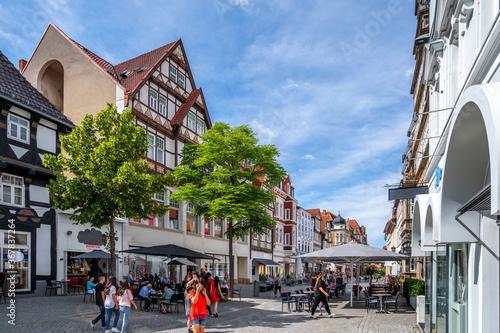 Leinwand Poster Altstadt, Hameln, Deutschland