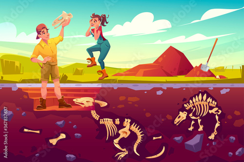 Archaeologists, paleontologist rejoice for exploring artifact dinosaurs skull, s Canvas Print