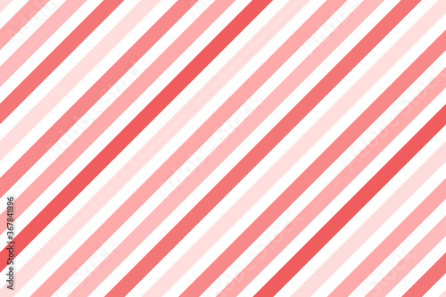 Obraz na płótnie Vector diagonal stripes pattern. Simple Christmas background