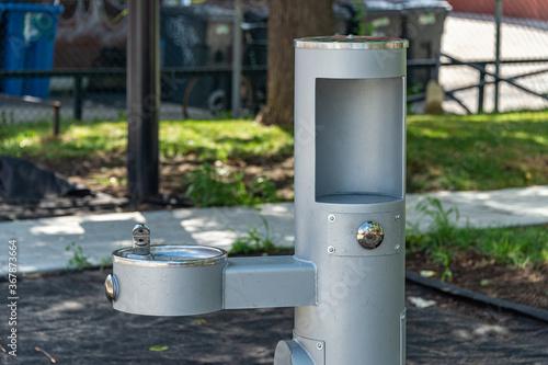 Fotografija Drinking fountain with bottle filling station