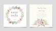 hand drawn floral card