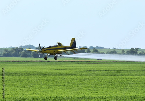 Tablou Canvas Yellow Crop Duster
