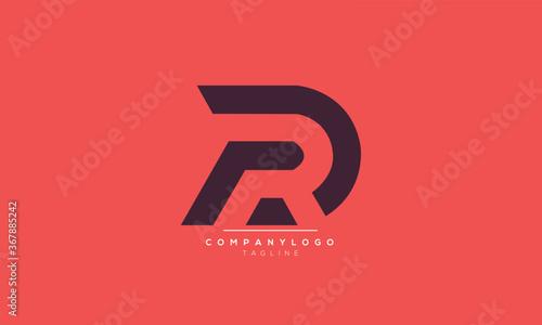 DR RD  abstract initials monogram letter text alphabet logo design Wallpaper Mural