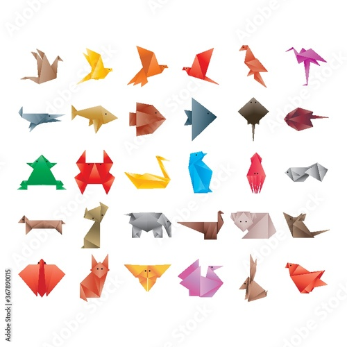 collection of origami animals Canvas Print