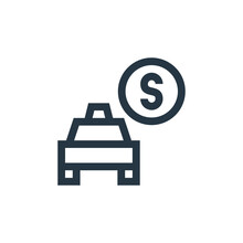 Fare Icon Vector From Taxi Service Concept. Thin Line Illustration Of Fare Editable Stroke. Fare Linear Sign For Use On Web And Mobile Apps, Logo, Print Media.