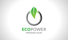 Modern Eco Power Logo Design, ...