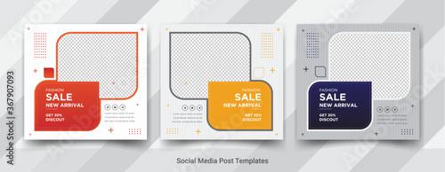 Fototapeta Fashion sale new arrival social media square post templates design  obraz