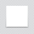 White sheet of paper on a transparent background. Vector