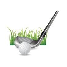 Golf Ball With Club Head