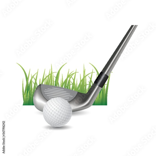golf ball with club head Wallpaper Mural