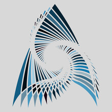 A Water Blue Vortex Pattern Design Background