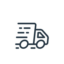 Fast Delivery Icon Vector From Ecommerce Shopping Concept. Thin Line Illustration Of Fast Delivery Editable Stroke. Fast Delivery Linear Sign For Use On Web And Mobile Apps, Logo, Print Media.