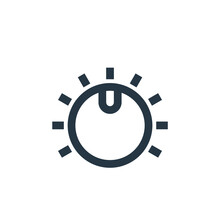 Knob Icon Vector From Music Co...