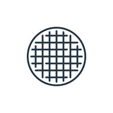 Stroopwafel Icon Vector From Holland Concept. Thin Line Illustration Of Stroopwafel Editable Stroke. Stroopwafel Linear Sign For Use On Web And Mobile Apps, Logo, Print Media.