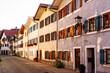 Häuserreihe in der Spitalgasse in der Altstadt von Füssen, Bayern