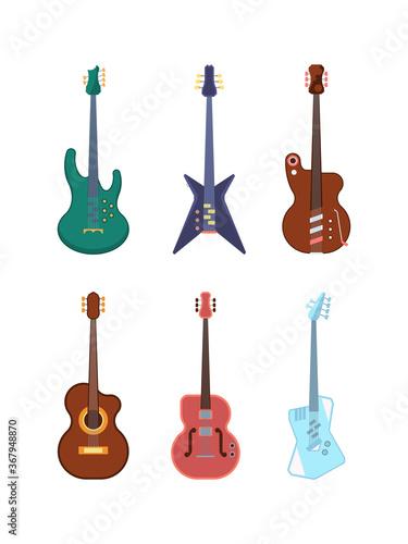 Photo Guitars colored set
