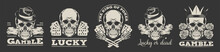 Gambling Logos Set. Vector Ill...