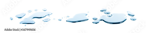 Fotografie, Obraz spill water drop on the floor isolated with clipping path on white background