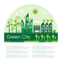 Green Eco City Living Concept....