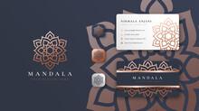 Golden Mandala Logo With Business Card