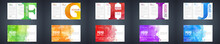 Watercolor Colourful Booklet Cover Template Bundle Set With Letter