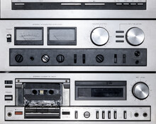 Close Up On A Vintage Stereo M...