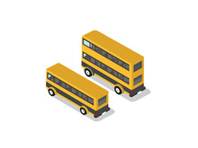 Yellow Bus  And Double Decker