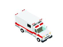 Ambulance Truck In Isometric L...