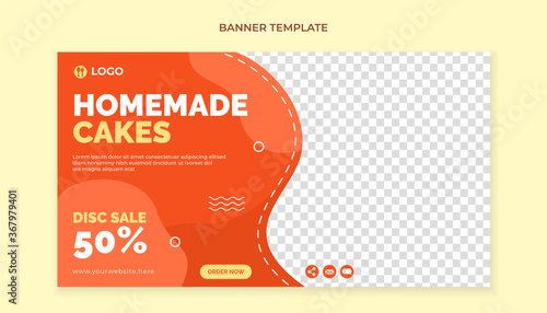 Obraz Homemade cakes food banner template - fototapety do salonu