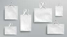 Paper Shopping Bags Mockup, Wh...