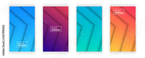 Photo Abstract minimal line geometric background