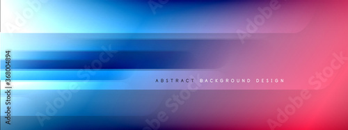 Motion concept neon shiny lines on liquid color gradients abstract backgrounds. Dynamic shadows and lights templates for text © antishock