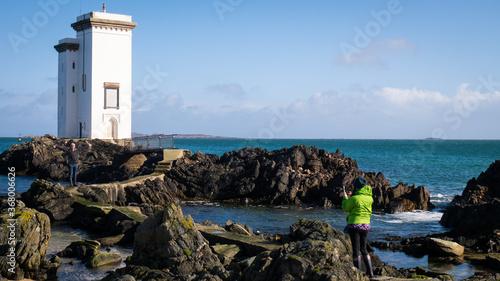 Obraz na plátně Carraig Fhada Lighthouse