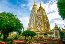 Pagoda At Wat Phrathat Nong Bua Temple In Ubon Ratchathani,Thailand Public Domain