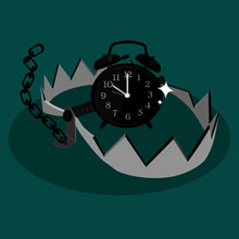 Alarm Clock In Bear Trap. The...