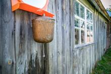 Old Street Washbasin On A Wood...