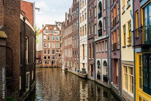 Papel de parede Amsterdam, Netherlands - May 23, 2018 : Street view of downtown in Amsterdam, Ne