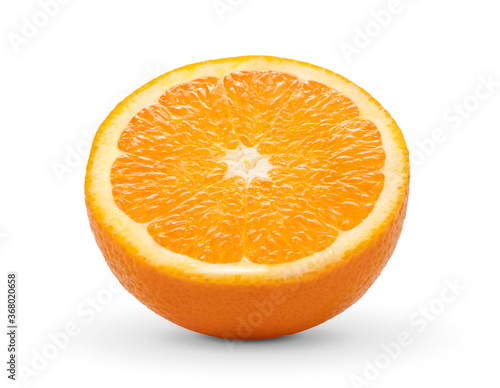 Obraz Orange slice on white background - fototapety do salonu