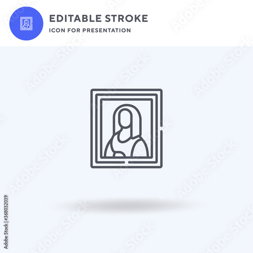 Fotomural Mona Lisa icon vector, filled flat sign, solid pictogram isolated on white, logo illustration