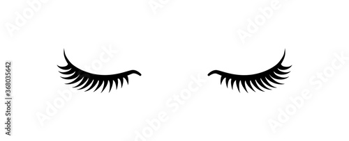 Slika na platnu Black false eyelashes icon. Beauty product for eyelash extension