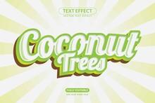 Editable Coconut Drink Text Ef...