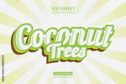 Fotografija Editable Coconut Drink Text Effect Style